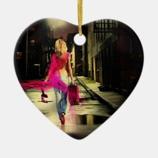 Pink Mac/Rainbow Girl Heart Ornament