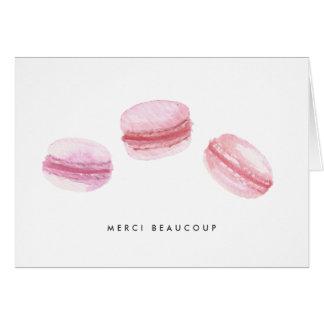 Pink Macarons Thank You Card