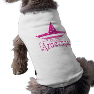 Pink Made In America Sleeveless Dog Shirt