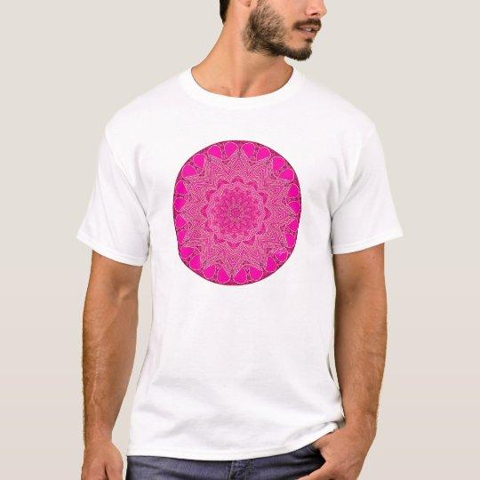 Pink-Magenta Crystal Mandala T-Shirt