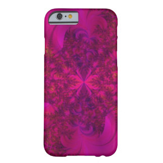 Pink Magenta Fractal Flower Barely There iPhone 6 Case