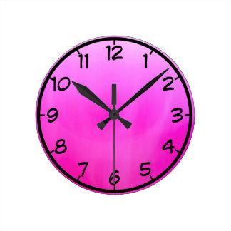 Pink magenta round clock