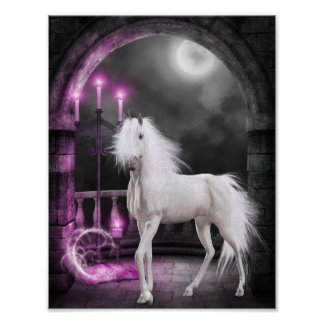 Pink Magical Unicorn Poster