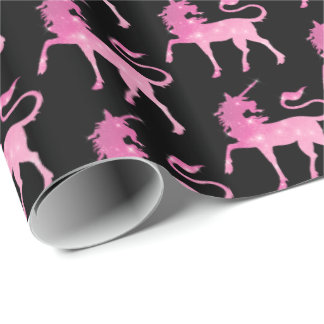Pink magical unicorn tiled party pattern wrap wrapping paper