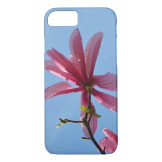 Pink magnolia blossoms print iphone case