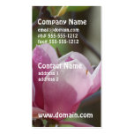 Pink Magnolia Double-Sided Standard Business Cards (Pack Of 100)