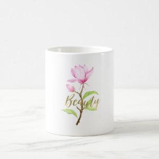Pink Magnolia Flower Beauty Coffee Mug
