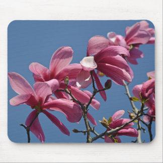 Pink magnolia flowers print mousepad mouse pad