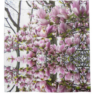 Pink Magnolia Madness shower curtain