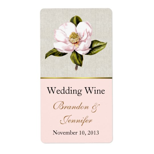 Pink Magnolia Mini Wine Labels