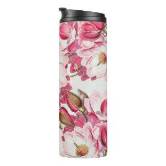 Pink Magnolia Thermal Tumbler