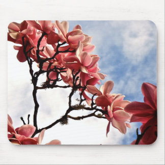 PINK MAGNOLIA TREE IN BLOOM MOUSE PAD