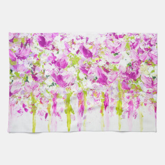 Pink Magnolias Tea Towel