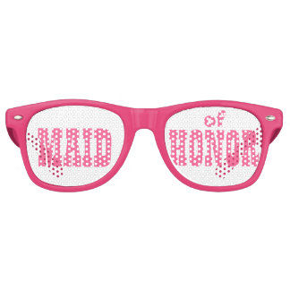 Pink Maid of Honor Swag Party Glasses