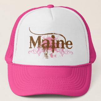 Pink Maine Grunge Trucker Hat