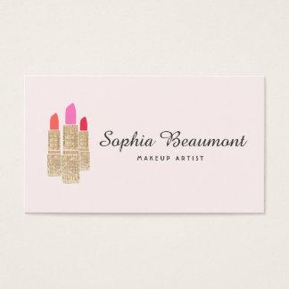 Pink Makeup Artist Gold Sequin Lipstick Beauty