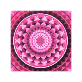 Pink mandala canvas print