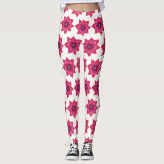 Pink Mandala Flowers Custom Leggings