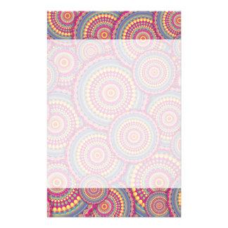 Pink Mandala Hippie Pattern Stationery