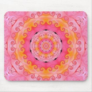 Pink mandala mouse mat