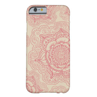 Pink Mandala Pattern Barely There iPhone 6 Case