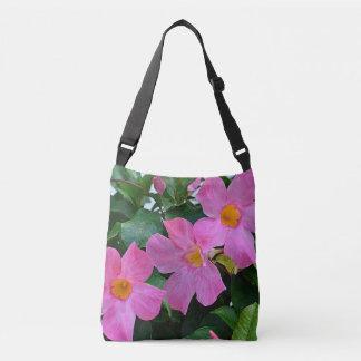 Pink Mandevilla Vine Tote Bag