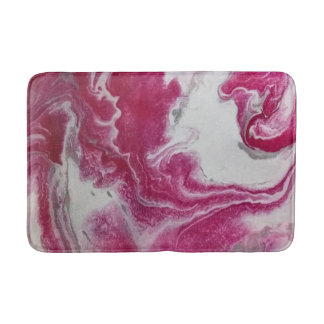 Pink Marble Abstract Medium Bath Mat