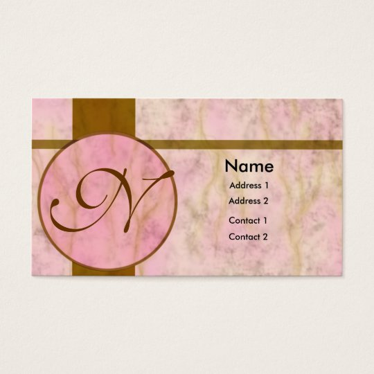 Pink Marble Inlay Business Card