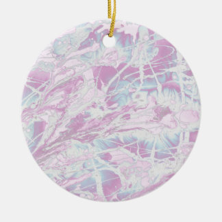 Pink Marble Pattern Ornament