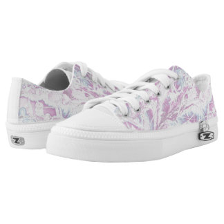 Pink Marble Pattern Shoes Printed Shoes