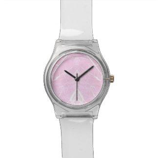 Pink marble pattern watch