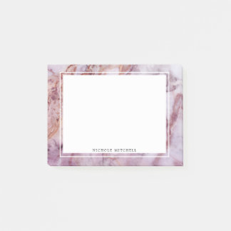 Pink Marble Post-It Notes