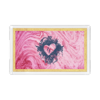 pink marble texture pattern elegant beautiful acrylic tray