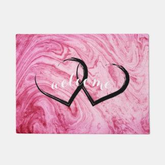 pink marble texture pattern elegant beautiful doormat