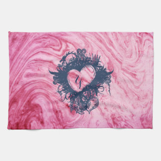 pink marble texture pattern elegant beautiful tea towel