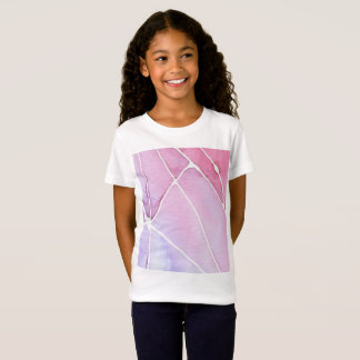 Pink Marble Watercolour Break T-Shirt