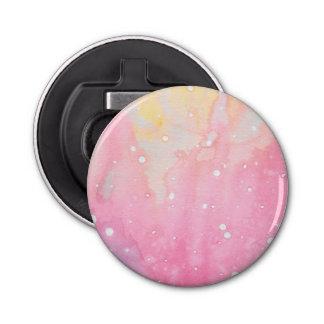Pink Marble Watercolour Splat Bottle Opener