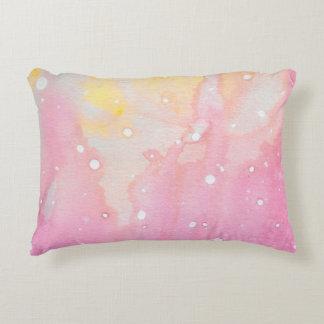 Pink Marble Watercolour Splat Decorative Cushion