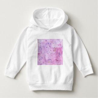 Pink Marble Watercolour Splat Hoodie