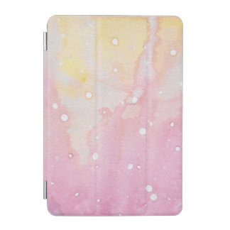 Pink Marble Watercolour Splat iPad Mini Cover