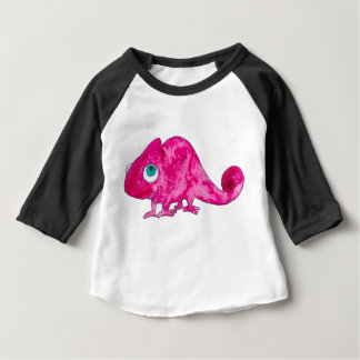Pink Marcel the Chameleon Baby Long Sleeve Tshirt