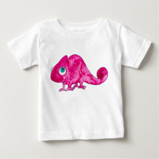 Pink Marcel the Chameleon Baby Tshirt