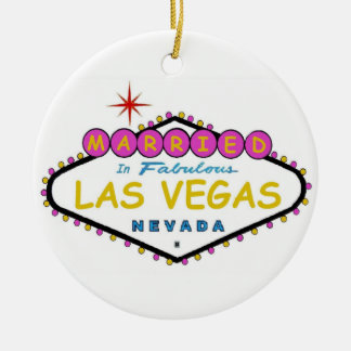PINK Married in Las Vegas Ornament