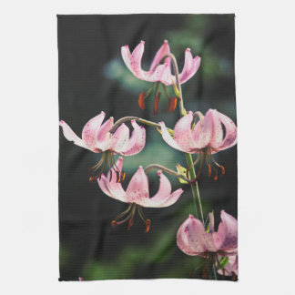 Pink Martagon Lily Flowers Towel