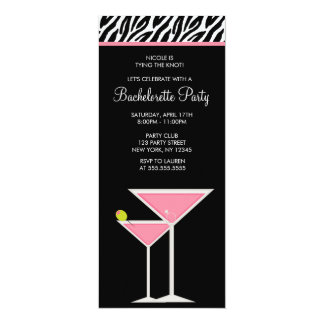 Pink Martini and Zebra Pattern Card