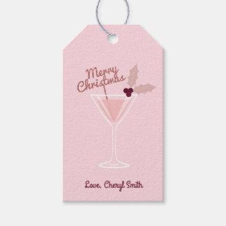 Pink Martini Christmas Gift Tags
