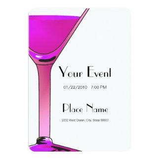 Pink Martini Cocktails Invitation Template
