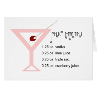 Pink Martini Greeting Card