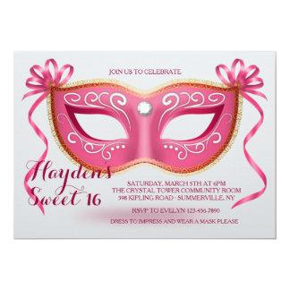 Pink Mask Invitation