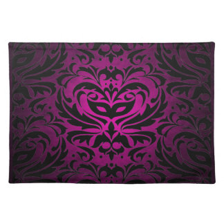 Pink Masquerade Damask Stylish Placemat